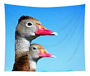 Ducks At Attention Tapestry