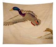 Ducks In Flight Tapestry