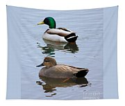 Ducks On A Pond Tapestry