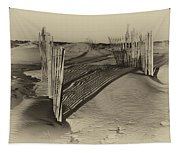 Dune Erosion Fence Outer Banks Nc Antique Plate Img_3761 Tapestry