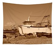 Dungeness Fishing Boats Tapestry