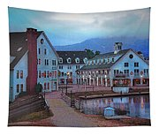 Dusk Before Snow At Town Square Tapestry