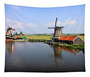 Dutch Windmills Tapestry