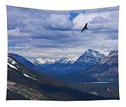 Eagle Over Peyto Lake Tapestry