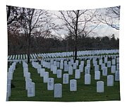 Eagle Point National Cemetery In Winter 1 Tapestry