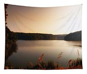 Early Autumn On The Lake Tapestry