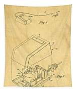 Early Computer Mouse Patent Yellowed Paper Tapestry