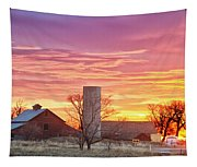 Early Country Morning Sunrise Tapestry