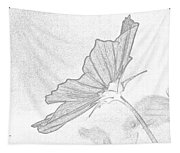 Early Dawns Light On Fall Flowers Bw Tapestry