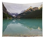 Early Morning At Lake Louise Tapestry