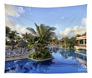 Early Morning At The Pool Tapestry