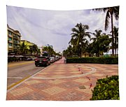 Early Morning In Miami Beach Tapestry