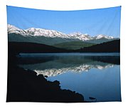 Early Morning Mountain Reflection Tapestry
