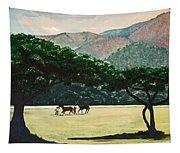 Early Morning Savannah Tapestry