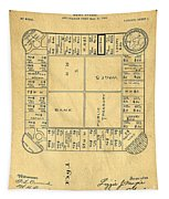 Early Version Of Monopoly Board Game Patent Tapestry