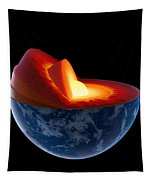 Earth Core Structure - Isolated Tapestry