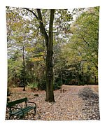 Earth Day Special - Bench In The Park Tapestry