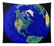 Earth From Space America Tapestry