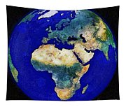 Earth From Space Europe And Africa Tapestry