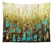 Abstract Geometric Mid Century Modern Art Tapestry