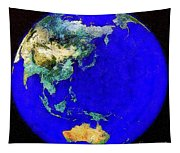 Earth Seen From Space Australia And Azia Tapestry
