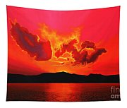 Earth Sunset Tapestry