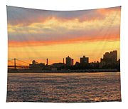 East River At Sunrise Tapestry