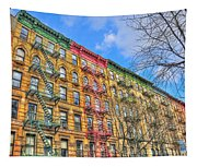East Village Buildings On East Fourth Street And Bowery Tapestry