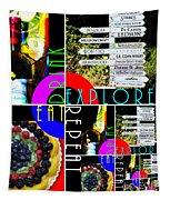 Eat Drink Explore Repeat 20140713 Vertical Tapestry