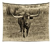Eat Leaf Not Beef Sepia Tapestry