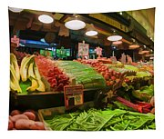 Eat Your Fruits And Vegetables Tapestry
