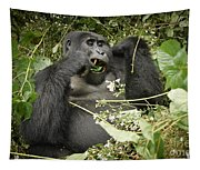 Eating Mountain Gorilla Tapestry