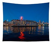 Edgewater The Big Red E Tapestry