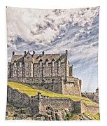 Edinburgh Castle Painting Tapestry