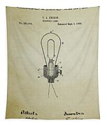 Edison Electric Lamp Patent 3 -  1882 Tapestry