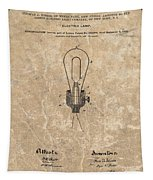 Edison Electric Lamp Patent Marble Tapestry