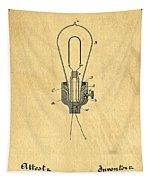 Edison Light Bulb Patent Art Tapestry