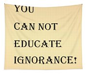 Educate Quote In Sepia Tapestry