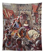 Edward V Rides Into London With Duke Tapestry