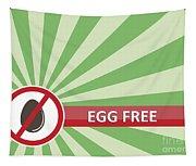 Egg Free Banner Tapestry