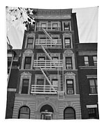 Egress Building In Black And White Tapestry
