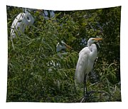 Egrets In Tree Tapestry