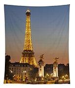 Eiffel At Twilight Tapestry