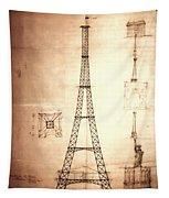 Eiffel Tower Design Tapestry