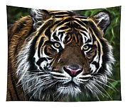 Electric Tiger Tapestry
