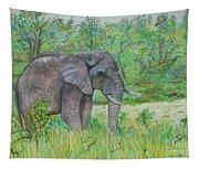 Elephant At Kruger Tapestry