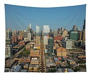Elevated View Of Cityscape, Lake Street Tapestry