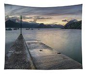 Elgol Pier And Boats With Cuillin Tapestry