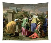 Eliezer And Rebecca At The Well Tapestry