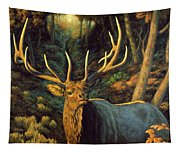 Elk Painting - Autumn Majesty Tapestry